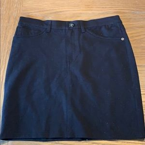 Guess mini skirt spandex/rayon zipper and button M